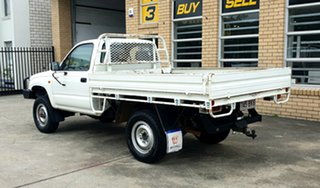 1998 Toyota Hilux LN167R White 5 Speed Manual Cab Chassis