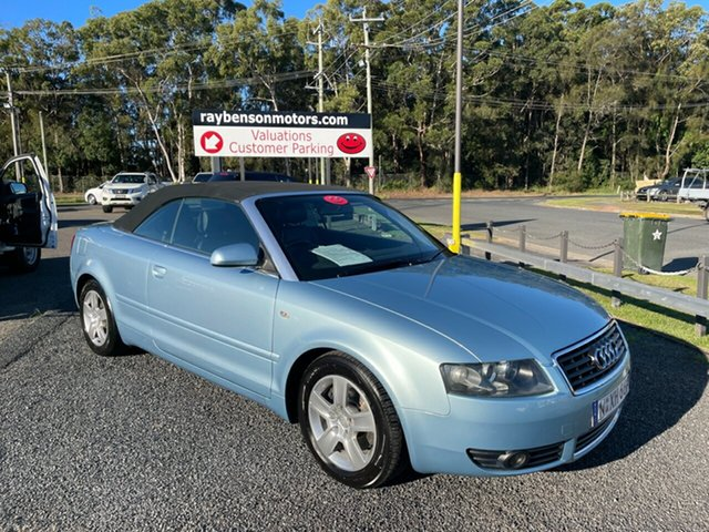 Used Audi A4 Coffs Harbour, 2004 Audi A4 B6 TURBO 1.8 t Blue 6 Speed Automatic Cabriolet