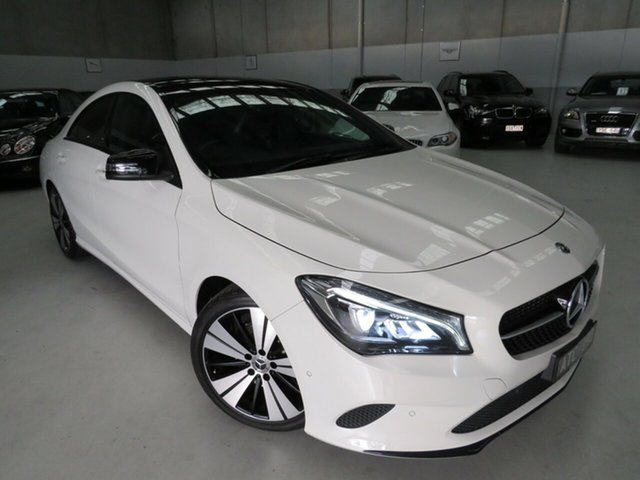 Used Mercedes-Benz CLA-Class C117 808MY CLA200 DCT Seaford, 2017 Mercedes-Benz CLA-Class C117 808MY CLA200 DCT White 7 Speed Sports Automatic Dual Clutch Coupe
