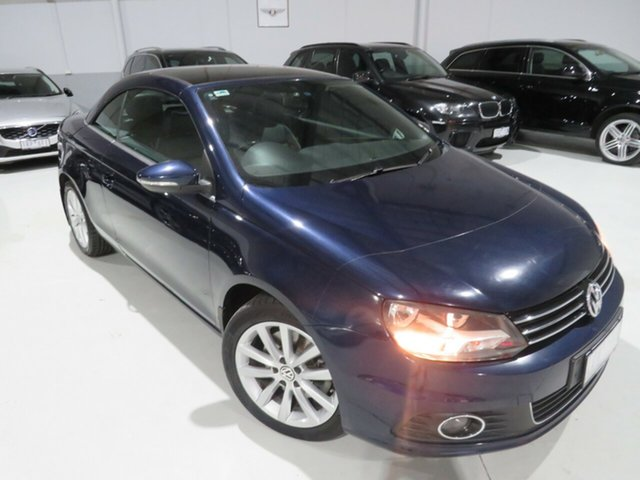 Used Volkswagen EOS 1F MY11 103TDI DSG Seaford, 2011 Volkswagen EOS 1F MY11 103TDI DSG Blue 6 Speed Sports Automatic Dual Clutch Convertible