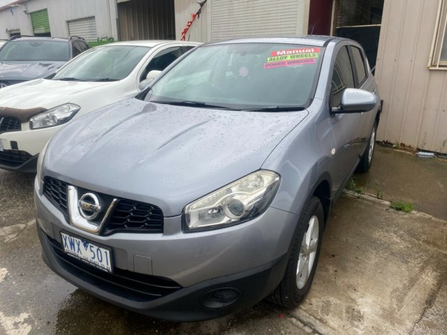 Used Nissan Dualis J10 MY10 ST (4x2) Hoppers Crossing, 2010 Nissan Dualis J10 MY10 ST (4x2) Grey 6 Speed Manual Wagon