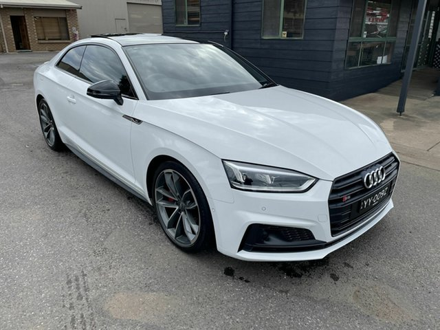 Used Audi S5 F5 MY18 Tiptronic Quattro Gepps Cross, 2017 Audi S5 F5 MY18 Tiptronic Quattro White 8 Speed Sports Automatic Coupe