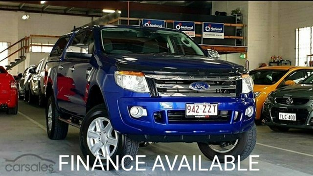 Used Ford Ranger PX XLT Double Cab Virginia, 2014 Ford Ranger PX XLT Double Cab Aurora Blue 6 Speed Sports Automatic Utility
