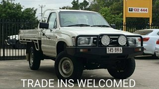 1998 Toyota Hilux LN167R White 5 Speed Manual Cab Chassis.