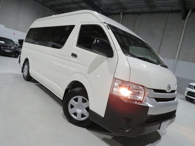 Used Toyota HiAce TRH223R Commuter High Roof Super LWB Seaford, 2015 Toyota HiAce TRH223R Commuter High Roof Super LWB White 6 Speed Automatic Bus