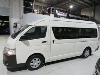 2015 Toyota HiAce TRH223R Commuter High Roof Super LWB White 6 Speed Automatic Bus