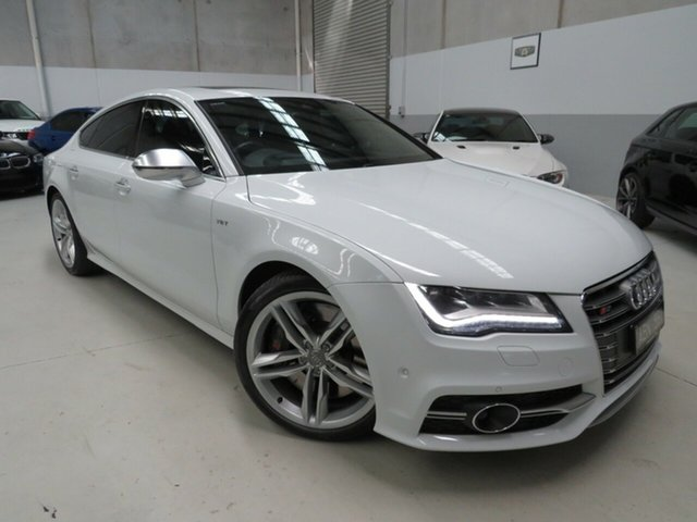 Used Audi S7 4G MY14 Sportback S Tronic Quattro Seaford, 2014 Audi S7 4G MY14 Sportback S Tronic Quattro White 7 Speed Sports Automatic Dual Clutch Hatchback