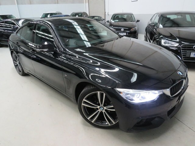 Used BMW 4 Series F36 420i Gran Coupe M Sport Seaford, 2015 BMW 4 Series F36 420i Gran Coupe M Sport Black 8 Speed Sports Automatic Hatchback