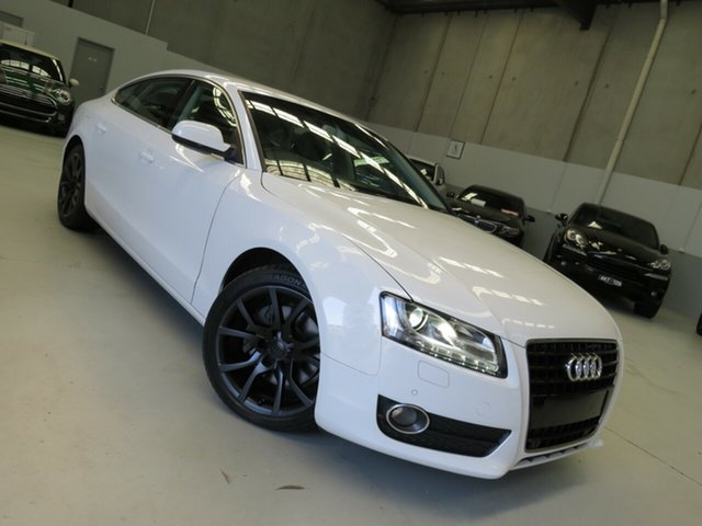 Used Audi A5 8T MY11 Sportback S Tronic Quattro Seaford, 2011 Audi A5 8T MY11 Sportback S Tronic Quattro White 7 Speed Sports Automatic Dual Clutch Hatchback