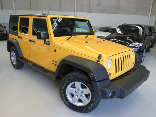 Used Jeep Wrangler JK MY2015 Unlimited Overland Seaford, 2015 Jeep Wrangler JK MY2015 Unlimited Overland Yellow 5 Speed Automatic Hardtop