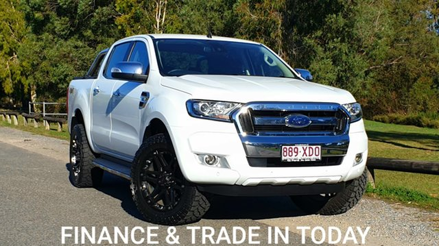 Used Ford Ranger PX MkII XLT Double Cab Virginia, 2017 Ford Ranger PX MkII XLT Double Cab Alpine White 6 Speed Sports Automatic Utility