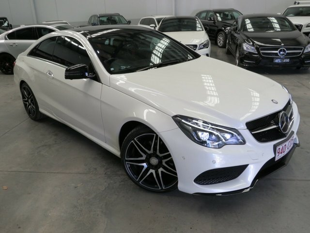 Used Mercedes-Benz E-Class C207 806MY E250 7G-Tronic + Seaford, 2015 Mercedes-Benz E-Class C207 806MY E250 7G-Tronic + White 7 Speed Sports Automatic Coupe