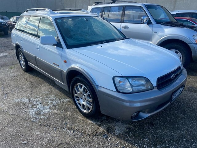 Used Subaru Outback MY01 H6 Hoppers Crossing, 2001 Subaru Outback MY01 H6 White 4 Speed Automatic Wagon