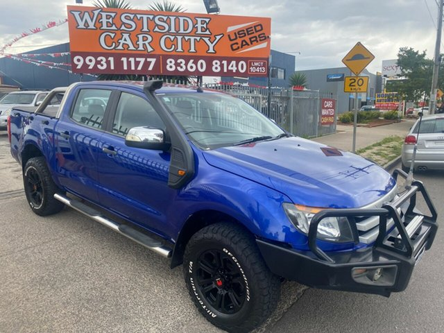 Used Ford Ranger PX XLS 3.2 (4x4) Hoppers Crossing, 2014 Ford Ranger PX XLS 3.2 (4x4) Blue 6 Speed Manual Dual Cab Utility