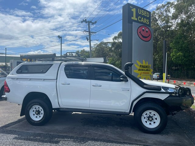 Used Toyota Hilux SR Coffs Harbour, 2017 Toyota Hilux 2.8 4X4 SR White 5 Speed Manual Dual Cab