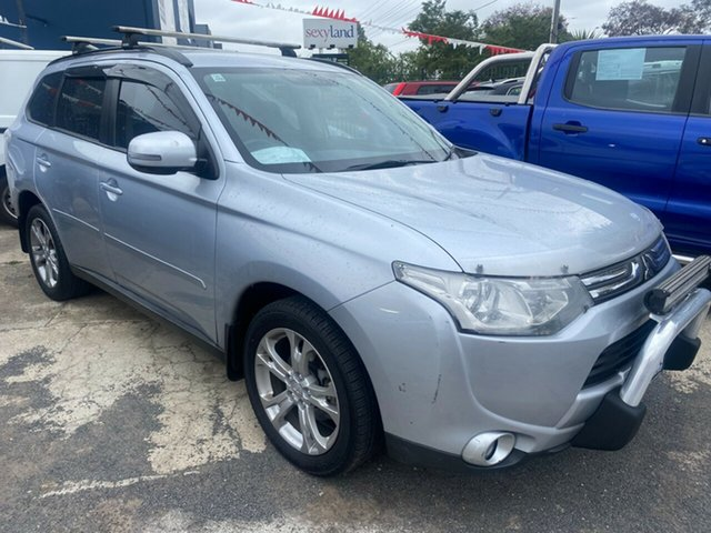 Used Mitsubishi Outlander ZJ MY14 LS (4x4) Hoppers Crossing, 2013 Mitsubishi Outlander ZJ MY14 LS (4x4) Silver 6 Speed Automatic Wagon
