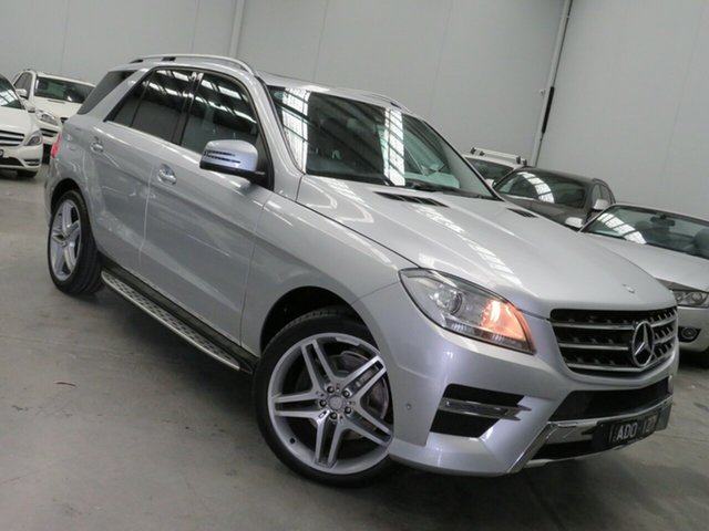 Used Mercedes-Benz M-Class W166 MY805 ML250 BlueTEC 7G-Tronic + Seaford, 2014 Mercedes-Benz M-Class W166 MY805 ML250 BlueTEC 7G-Tronic + Silver 7 Speed Sports Automatic