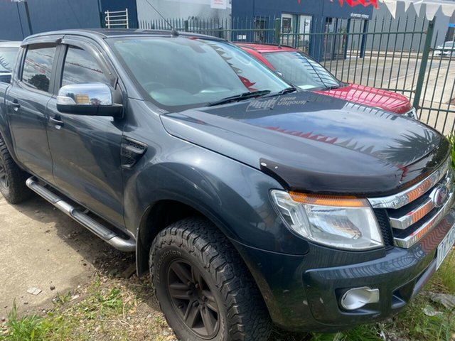 Used Ford Ranger PX XLT 3.2 Hi-Rider (4x2) Hoppers Crossing, 2014 Ford Ranger PX XLT 3.2 Hi-Rider (4x2) Grey 6 Speed Automatic Crew Cab Pickup
