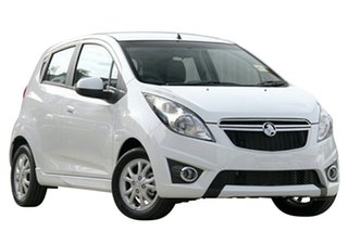 2014 Holden Barina Spark MJ MY14 CD White 4 Speed Automatic Hatchback.