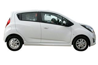 2014 Holden Barina Spark MJ MY14 CD White 4 Speed Automatic Hatchback