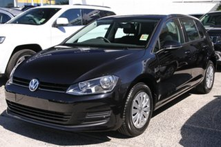 2015 Volkswagen Golf AU MY15 90 TSI Deep Black Pearl Effect 6 Speed Manual Hatchback.