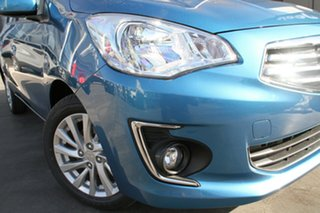 2015 Mitsubishi Mirage LA ES Cyber Blue Continuous Variable Sedan.