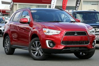 2015 Mitsubishi ASX XB MY15 XLS (4WD) Red 6 Speed Automatic Wagon.