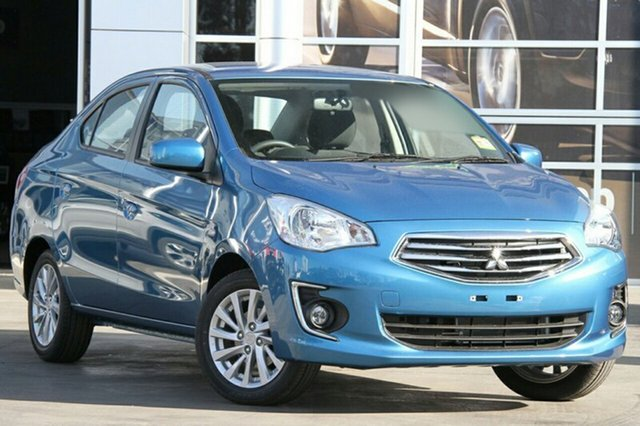 New Mitsubishi Mirage LA ES Albion, 2015 Mitsubishi Mirage LA ES Cyber Blue Continuous Variable Sedan
