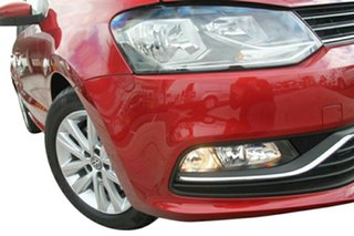 2015 Volkswagen Polo 6R MY15 81 TSI Comfortline Sunset Red 7 Speed Auto Direct Shift Hatchback.