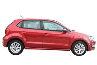 2015 Volkswagen Polo 6R MY15 81 TSI Comfortline Sunset Red 7 Speed Auto Direct Shift Hatchback