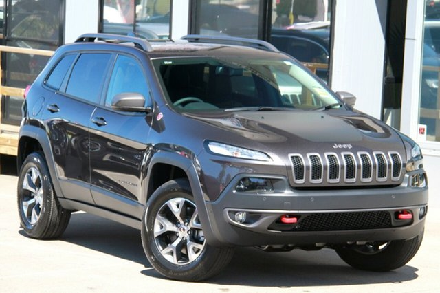 New Jeep Cherokee KL MY17 Trailhawk, 2017 Jeep Cherokee KL MY17 Trailhawk Granite Crystal Metallic 9 Speed Sports Automatic Wagon
