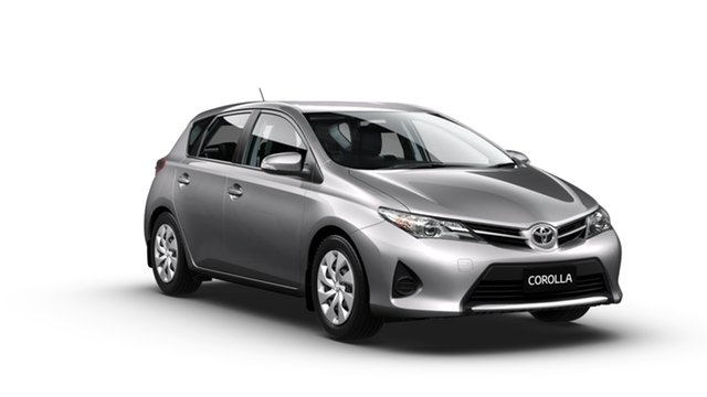 New Toyota Corolla ZRE182R Ascent Albion, 2014 Toyota Corolla ZRE182R Ascent Silver Pearl 6 Speed Manual Hatchback
