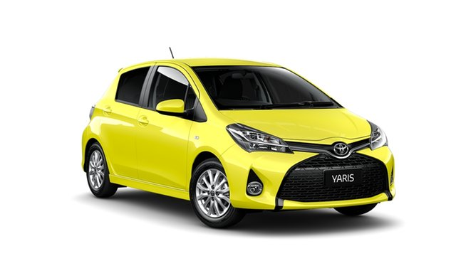 New Toyota Yaris NCP131R MY15 ZR Albion, 2014 Toyota Yaris NCP131R MY15 ZR Vivid Yellow 4 Speed Automatic Hatchback
