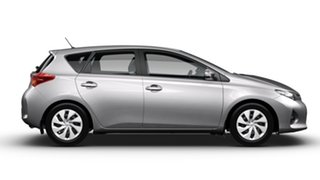 2014 Toyota Corolla ZRE182R Ascent Silver Pearl 6 Speed Manual Hatchback.