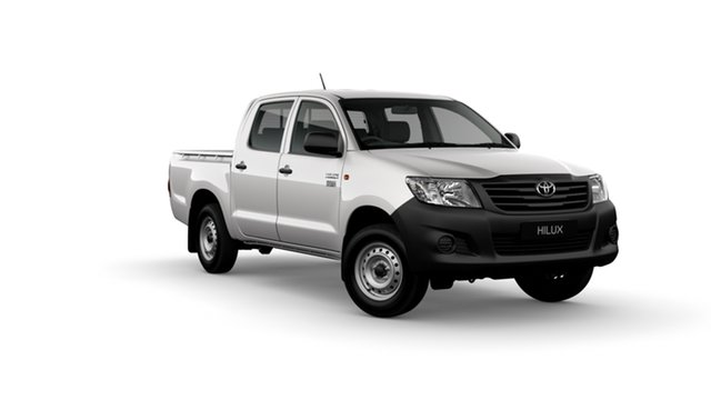 New Toyota Hilux TGN16R MY14 Workmate Albion, 2014 Toyota Hilux TGN16R MY14 Workmate Glacier White 4 Speed Automatic Dual Cab Pick-up
