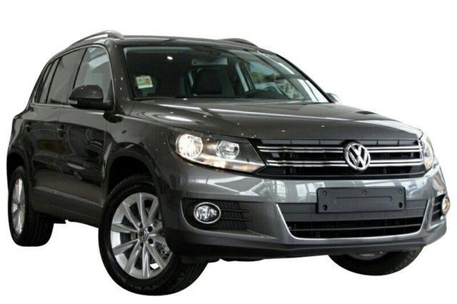 New Volkswagen Tiguan 5NC MY15 132 TSI (4x4), 2015 Volkswagen Tiguan 5NC MY15 132 TSI (4x4) Pepper Grey 7 Speed Auto Direct Shift Wagon