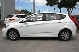 2015 Hyundai Accent RB2 MY15 Active Crystal White 4 Speed Automatic Hatchback