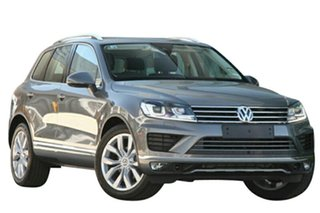 2017 Volkswagen Touareg 7P MY17 V6 TDI Tiptronic 4MOTION Canyon Grey 8 Speed Sports Automatic Wagon.