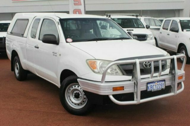 Used Toyota Hilux GGN15R MY07 SR Xtra Cab 4x2, 2007 Toyota Hilux GGN15R MY07 SR Xtra Cab 4x2 White 5 Speed Automatic Utility