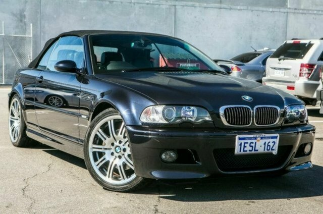 Used BMW M3 E46 MY04.5 SMG, 2006 BMW M3 E46 MY04.5 SMG Black 6 Speed Seq Manual Auto-Clutch Convertible
