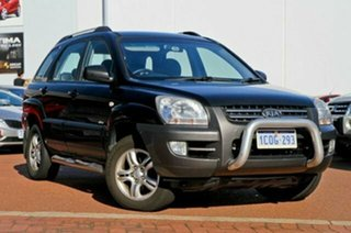 2007 Kia Sportage KM EX (4x4) Black 4 Speed Tiptronic Wagon.