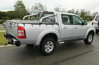 2007 Ford Ranger PJ XLT (4x4) Silver Metallic 5 Speed Automatic Dual Cab Pick-up.