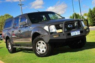 2005 Nissan Navara D40 RX Storm Grey 5 Speed Automatic Utility.