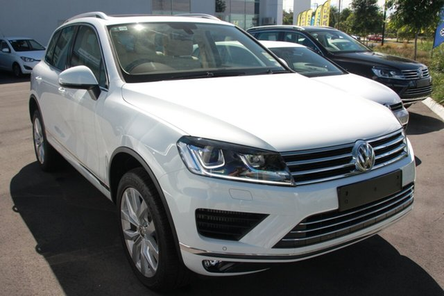 New Volkswagen Touareg 7P MY16 V6 TDI Tiptronic 4MOTION, 2016 Volkswagen Touareg 7P MY16 V6 TDI Tiptronic 4MOTION Pure White 8 Speed Sports Automatic Wagon