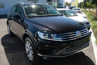 2018 Volkswagen Touareg 7P MY18 V6 TDI Tiptronic 4MOTION Deep Black Pearl Effect 8 Speed.