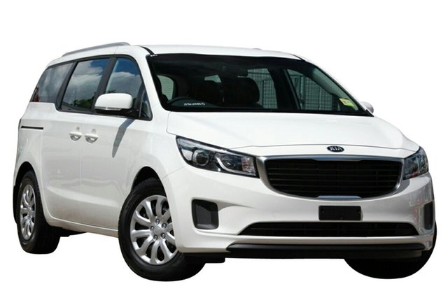 Demo Kia Carnival YP MY15 S Albion, 2015 Kia Carnival YP MY15 S Clear White 6 Speed Automatic Wagon