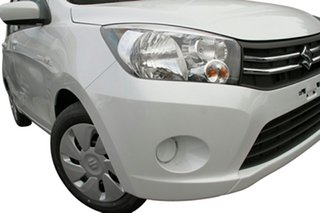 2015 Suzuki Celerio LF Snow White Continuous Variable Hatchback.