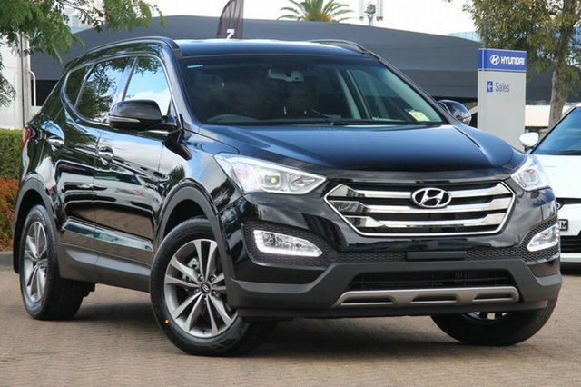New Hyundai Santa Fe DM MY15 Elite CRDi (4x4), 2015 Hyundai Santa Fe DM MY15 Elite CRDi (4x4) Phantom Black 6 Speed Automatic Wagon