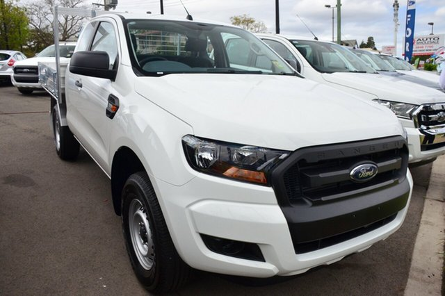 New Ford Ranger PX MkII XL Super Cab 4x2 Hi-Rider, 2016 Ford Ranger PX MkII XL Super Cab 4x2 Hi-Rider Cool White 6 Speed Sports Automatic Cab Chassis
