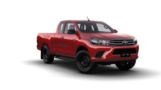 2016 Toyota Hilux GUN126R SR (4x4) Olympia Red 6 Speed Manual X Cab Utility.